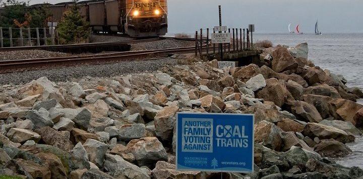 Coal train rounding a corner. Photo courtesy Paul K Anderson.