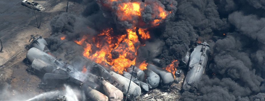 Lac-Mégantic explosion, which killed 47 people. Photo Paul Chiasson.