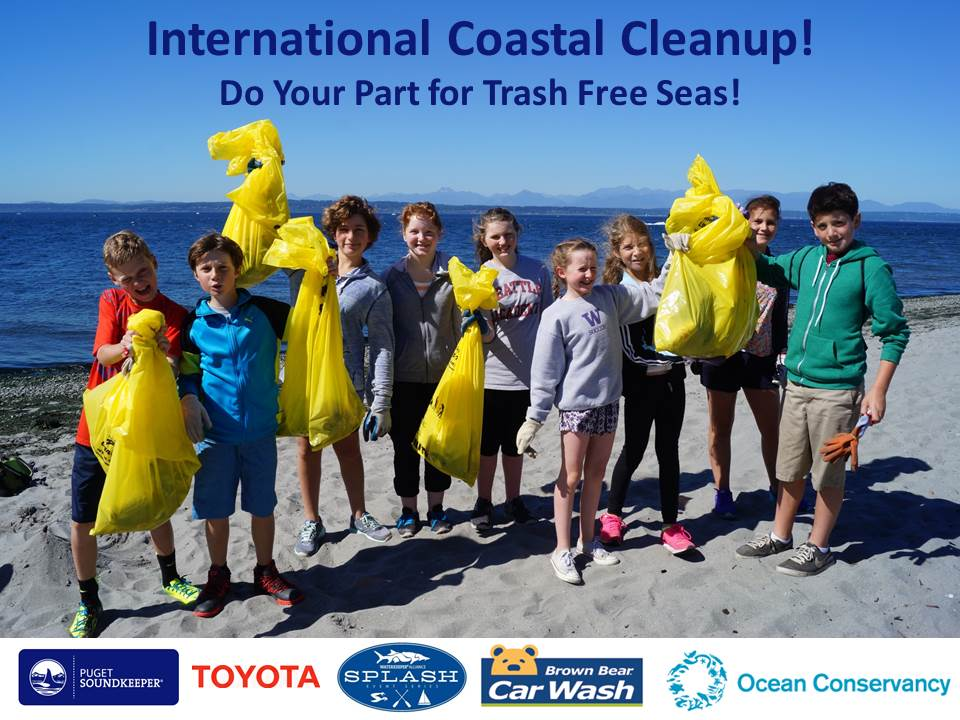 International Coastal Cleanup - do your part for trash free seas!