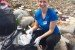Stewardship Manager Kathryn Davis at a cleanup in Hong Kong.