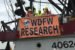 Researchers with WDFW wave from a fishing boat.